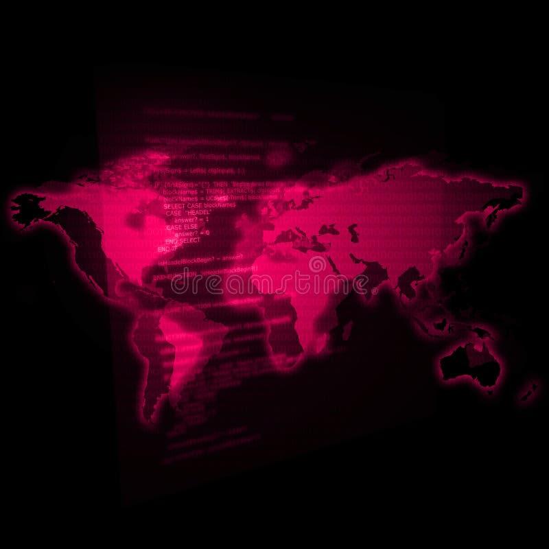 Het Magenta van de Wereld van IT stock illustratie