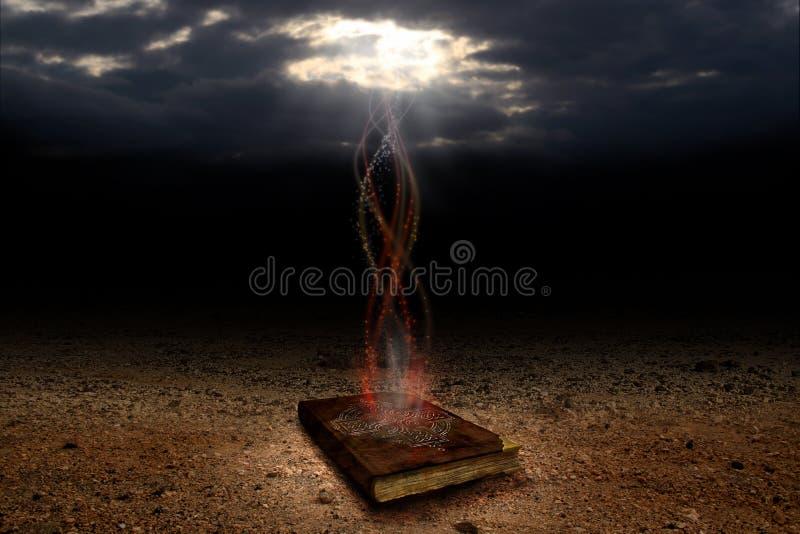 Het magische boek stock afbeelding