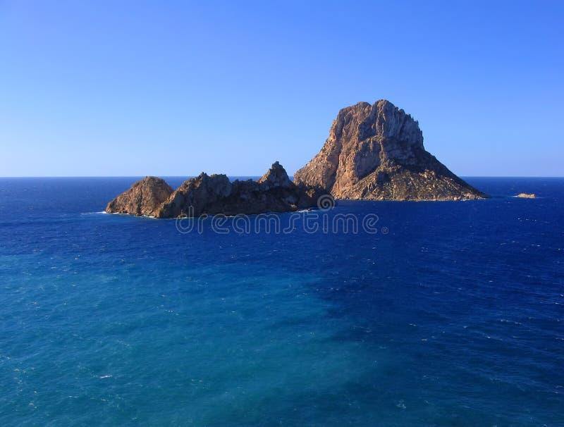 Het magische eiland van S Vedra stock foto's