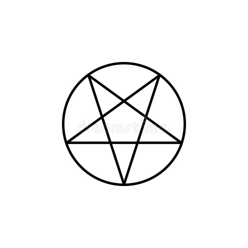 Het magische pictogram van het pentagramoverzicht De tekens en de symbolen kunnen voor Web, embleem, mobiele toepassing, UI, UX w stock illustratie