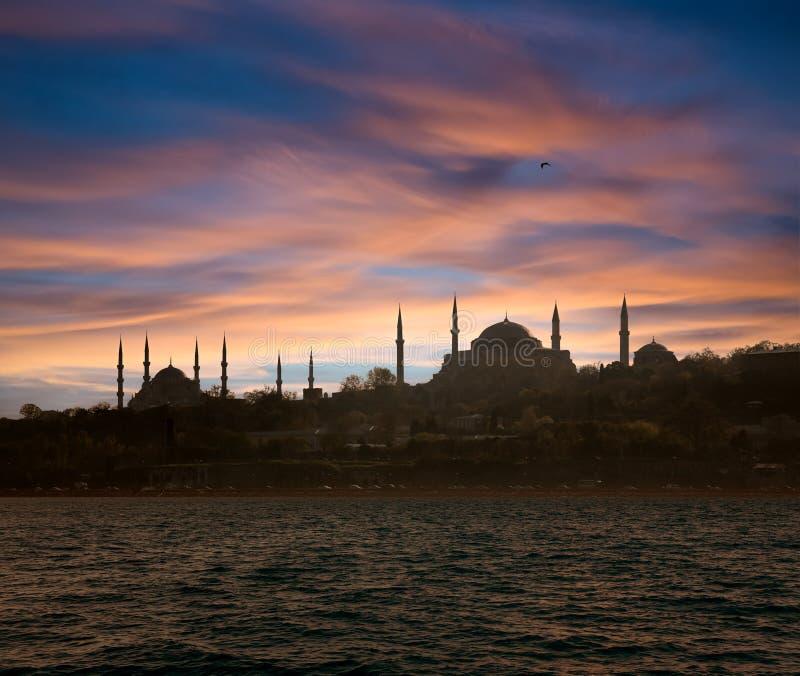 Het magische Silhouet van Istanboel royalty-vrije stock afbeeldingen