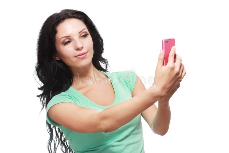 Het maken selfie royalty-vrije stock afbeeldingen