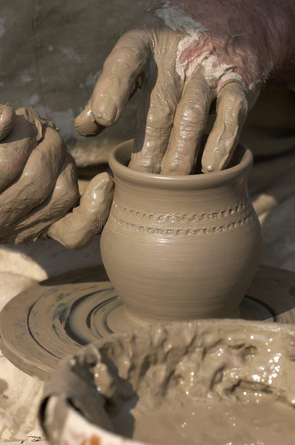 Het maken van aardewerk royalty-vrije stock foto's