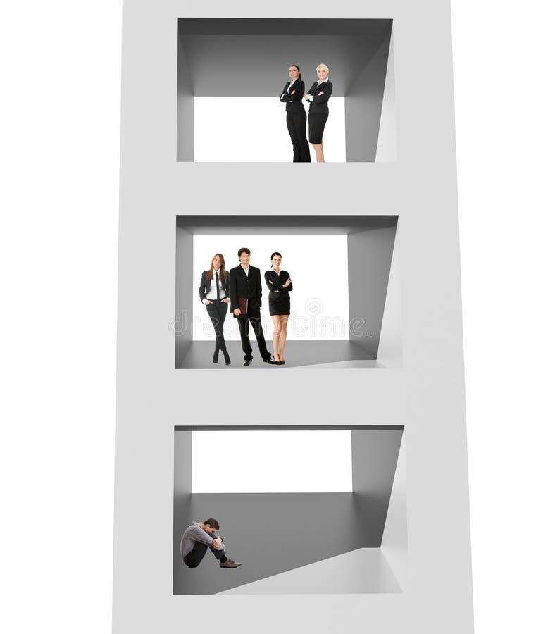 Het maken van carrièreconcept stock illustratie