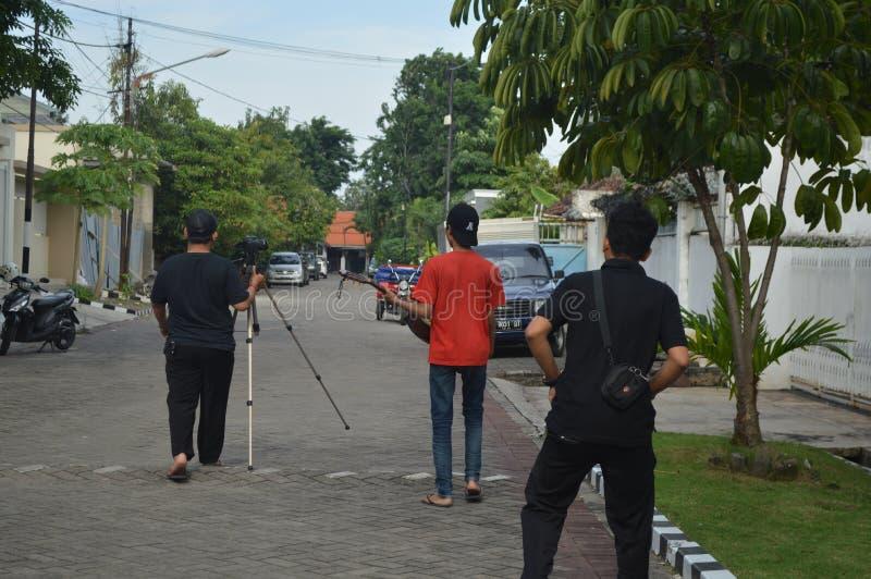 Het maken van een korte film stock foto's