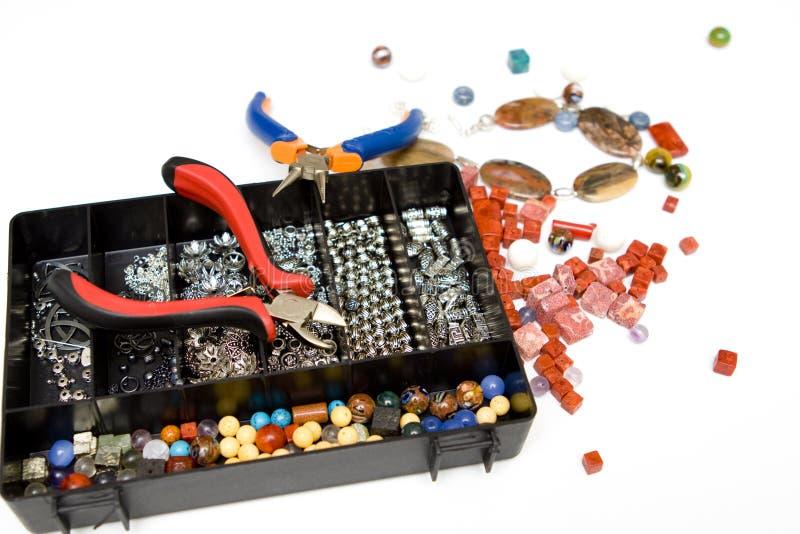 Het maken van juwelen royalty-vrije stock foto