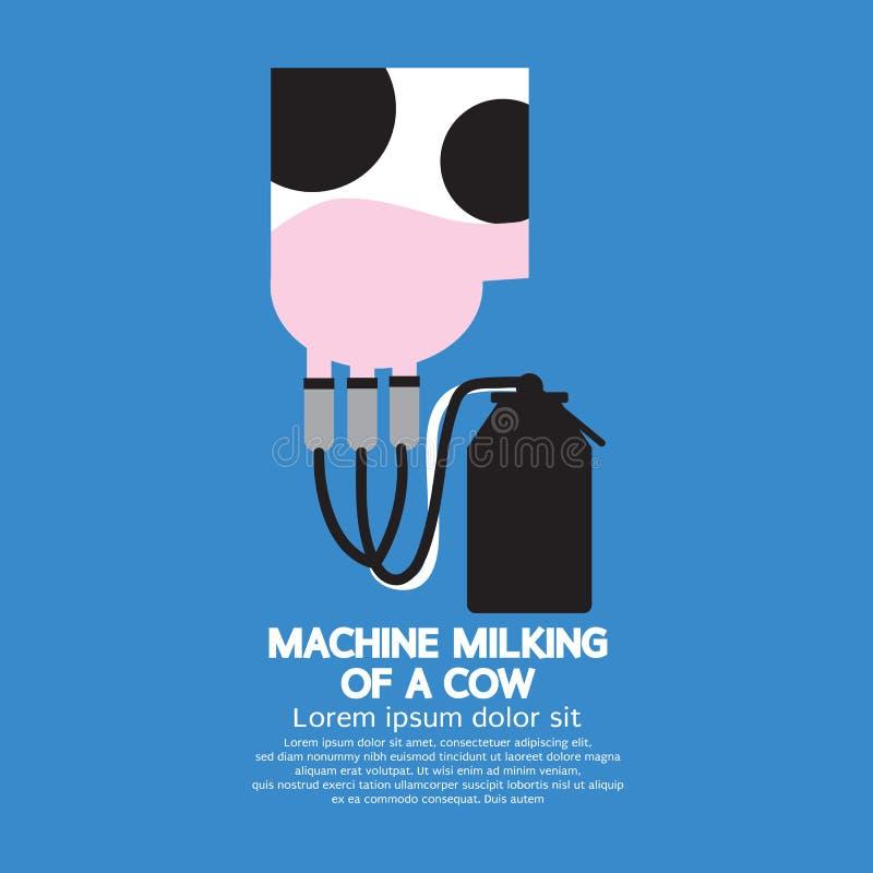 Het maken van Melk stock illustratie