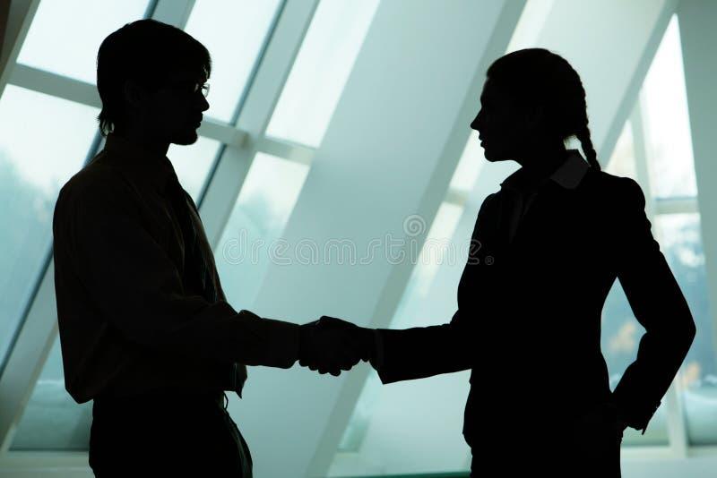 Het maken van overeenkomst stock afbeelding