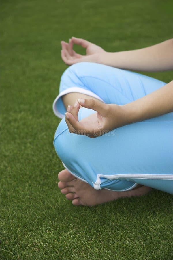Het maken van Yoga royalty-vrije stock foto