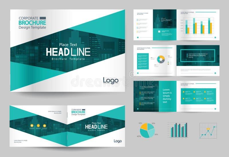 Het malplaatje en de paginalay-out van het bedrijfsbrochureontwerp voor bedrijfprofiel, jaarverslag, vector illustratie