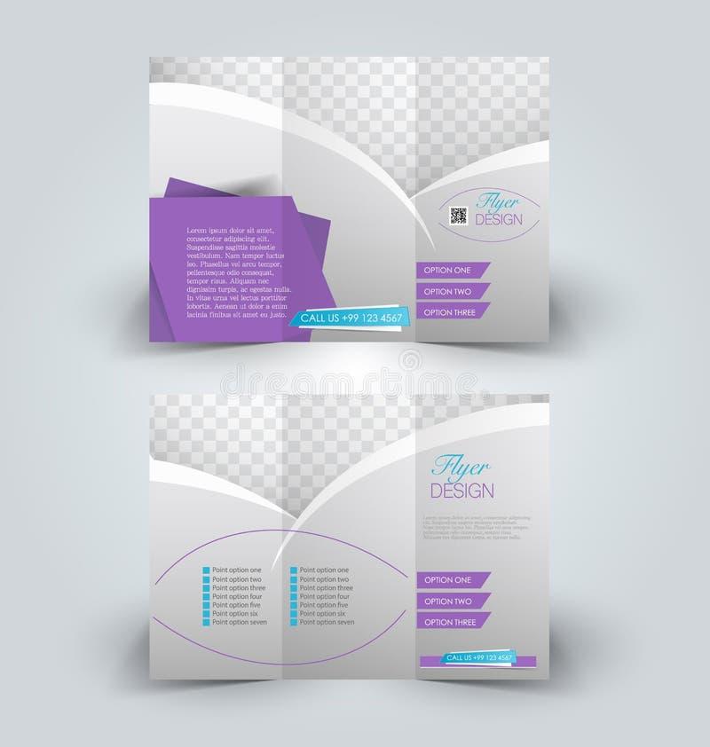 Het malplaatje Trifold van het bedrijfsbrochurepamflet stock illustratie