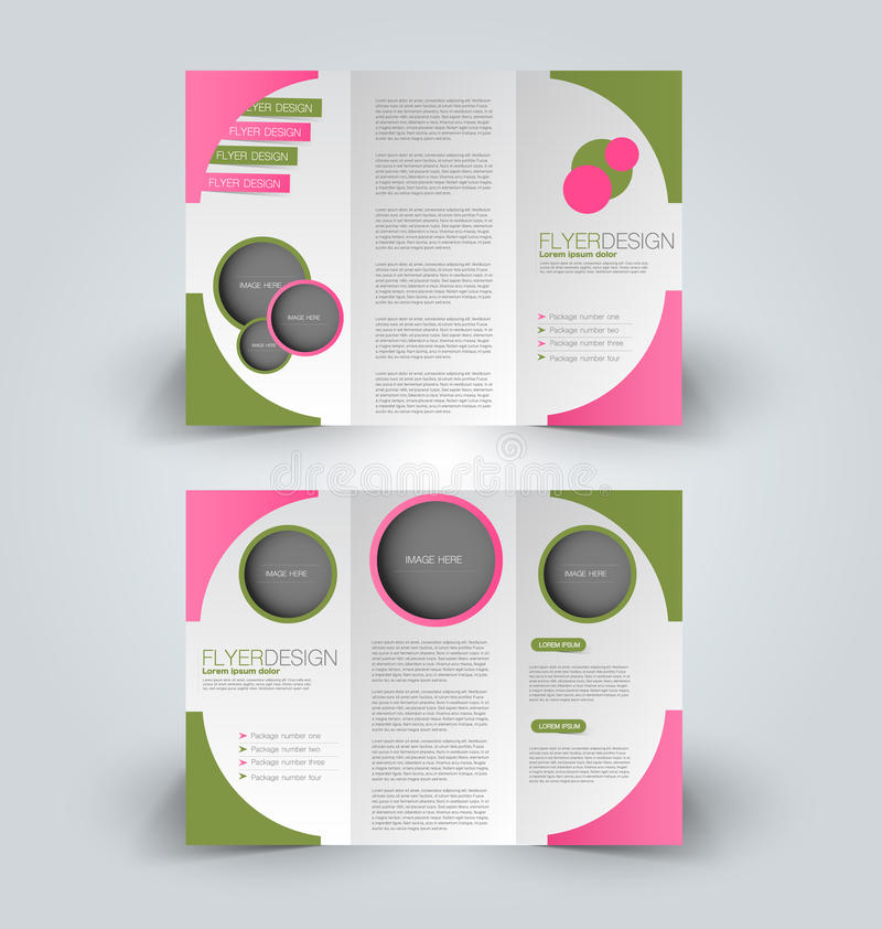 Het malplaatje Trifold van het bedrijfsbrochurepamflet vector illustratie