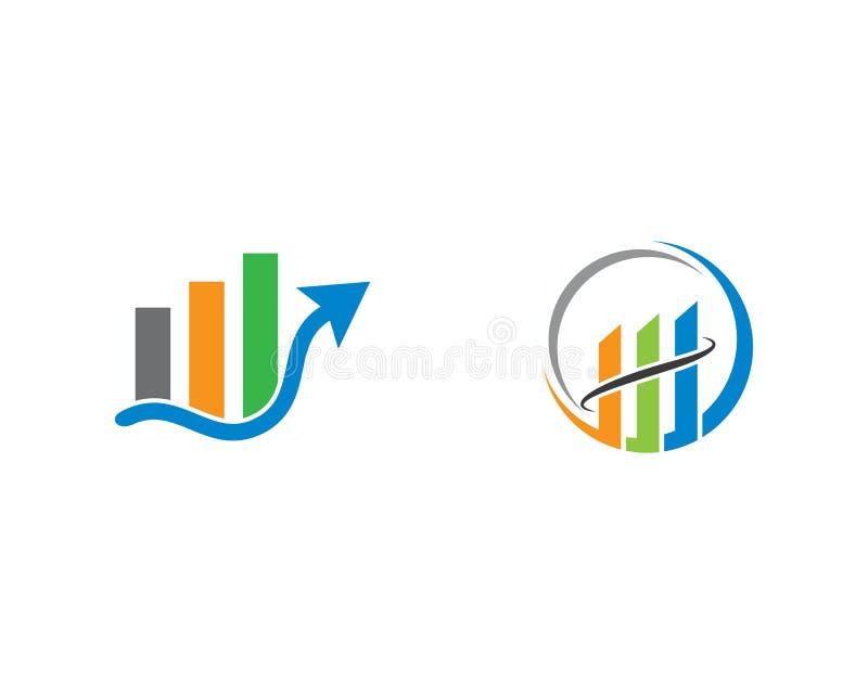 Het malplaatje van het bedrijfsfinanci?nembleem stock illustratie
