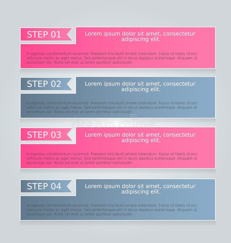 Het malplaatje van bedrijfsinfographicslusjes voor presentatie, onderwijs, Webontwerp, banner, brochure, vlieger vector illustratie