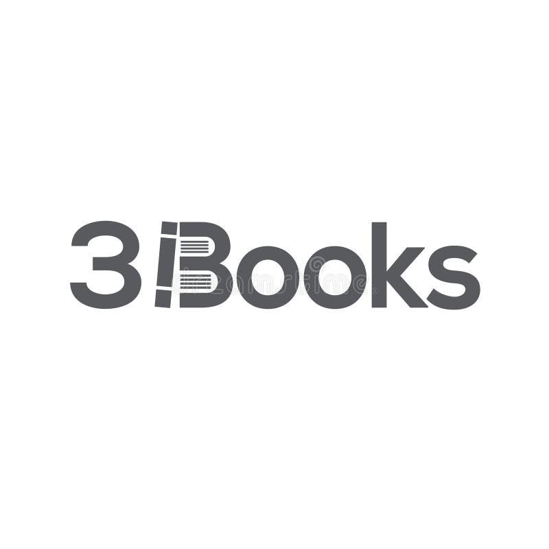 Het malplaatje van het boekenembleem vector illustratie