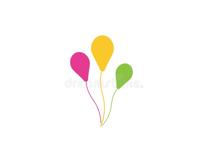 Het malplaatje van het boom baloon embleem royalty-vrije illustratie
