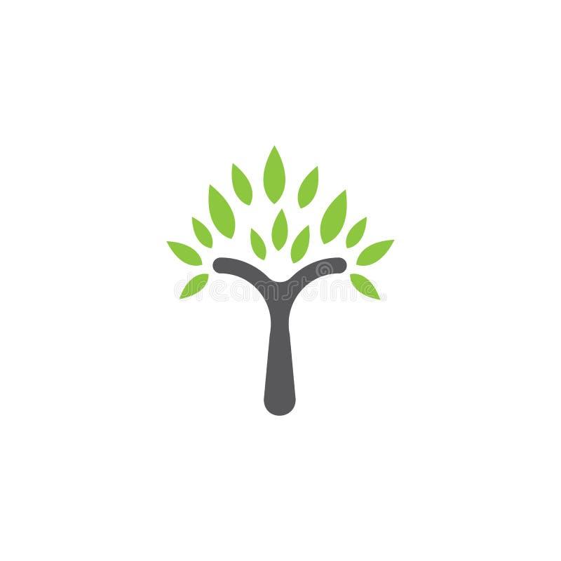Het malplaatje van het boomembleem royalty-vrije illustratie