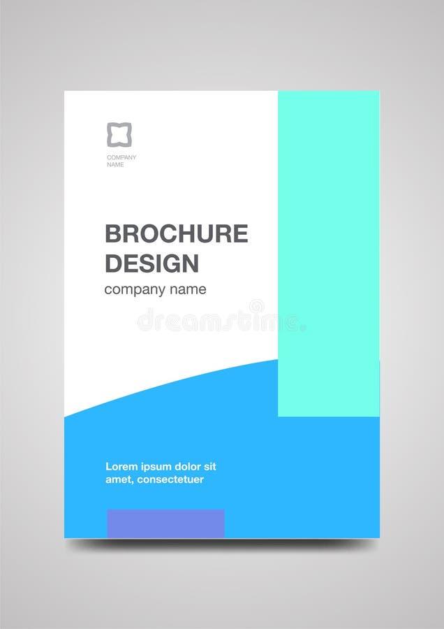 Het malplaatje van het brochureontwerp voor zaken stock fotografie