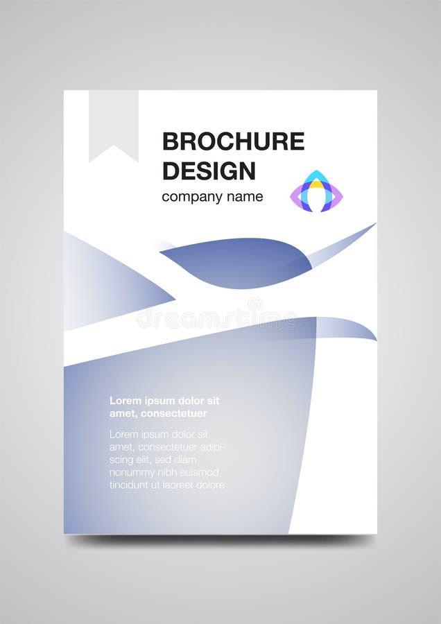 Het malplaatje van het brochureontwerp voor zaken royalty-vrije stock fotografie