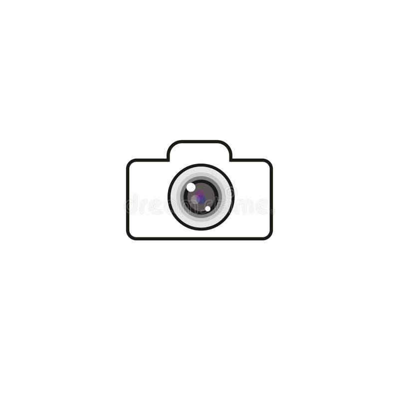 HET MALPLAATJE VAN HET CAMERAembleem, VECTOR, PICTOGRAM, ONTWERP, ILLUSTRATIE stock illustratie
