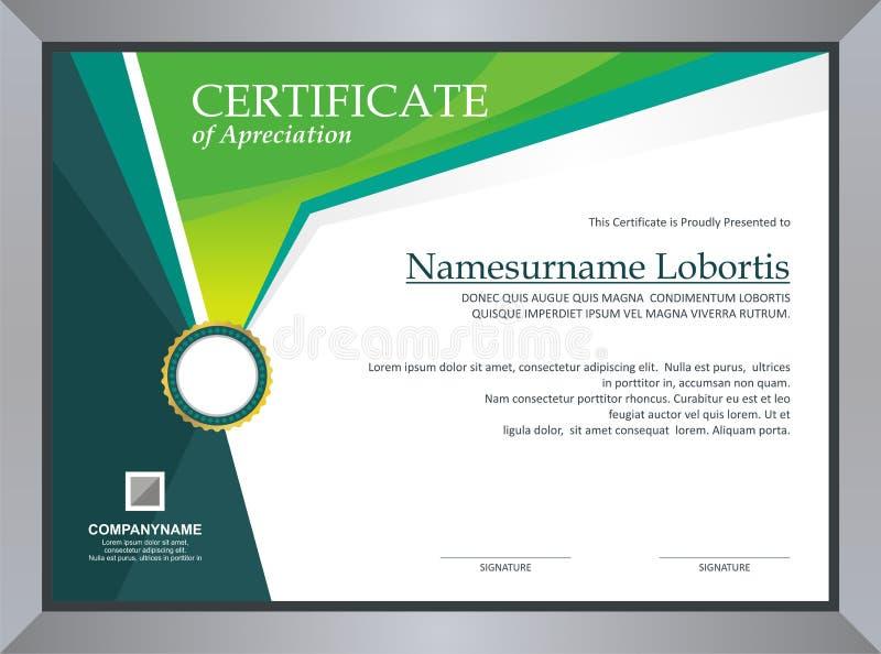 Het malplaatje van het certificaat vector illustratie