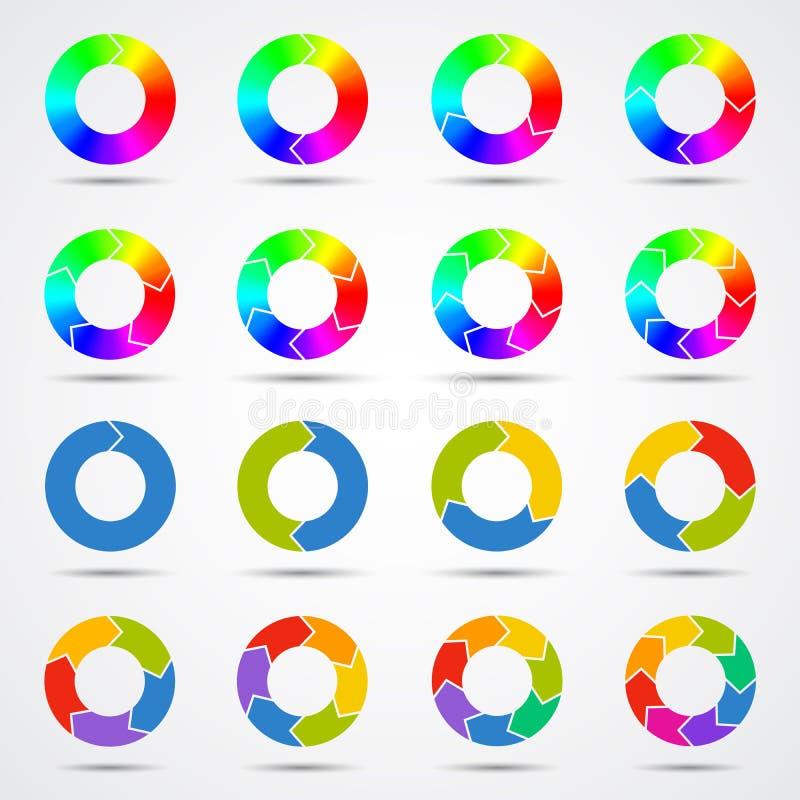 Het malplaatje van cirkelpijlen voor uw bedrijfsproject stock illustratie