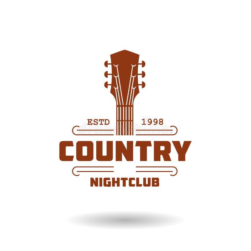 Het malplaatje van het country muziekembleem royalty-vrije illustratie