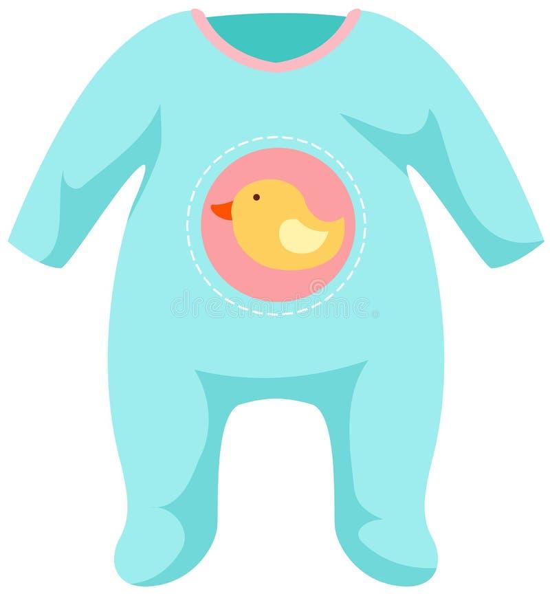 Het malplaatje van de baby onesie stock illustratie