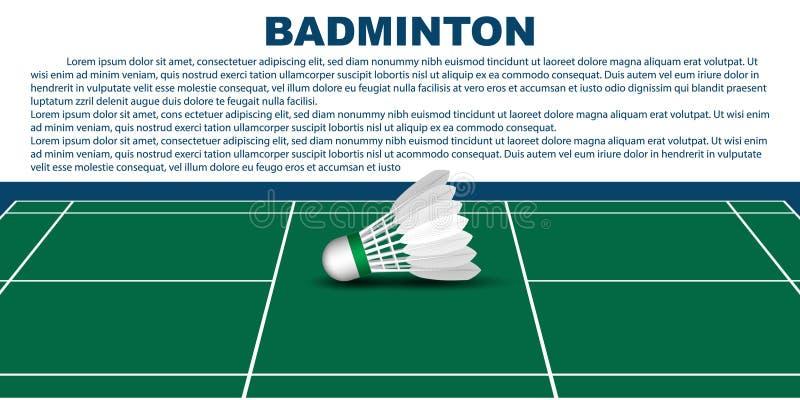 Het malplaatje van de badmintonlay-out voor brochure of pagina's vector illustratie