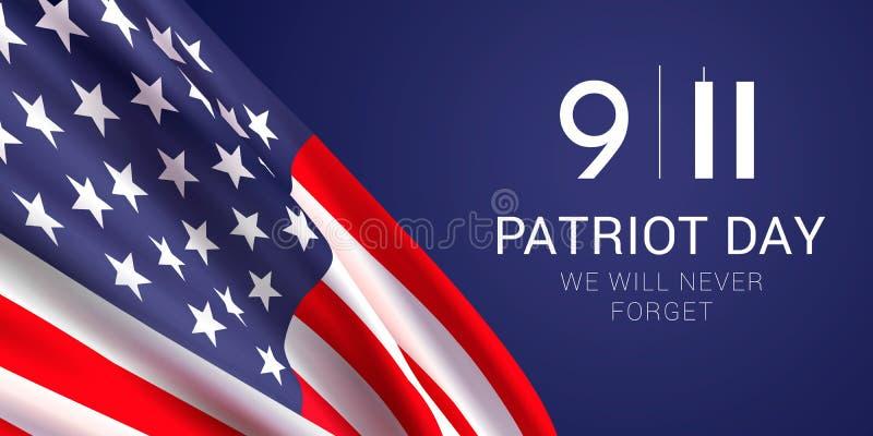 Het malplaatje van het de bannerontwerp van de patriotdag vector illustratie
