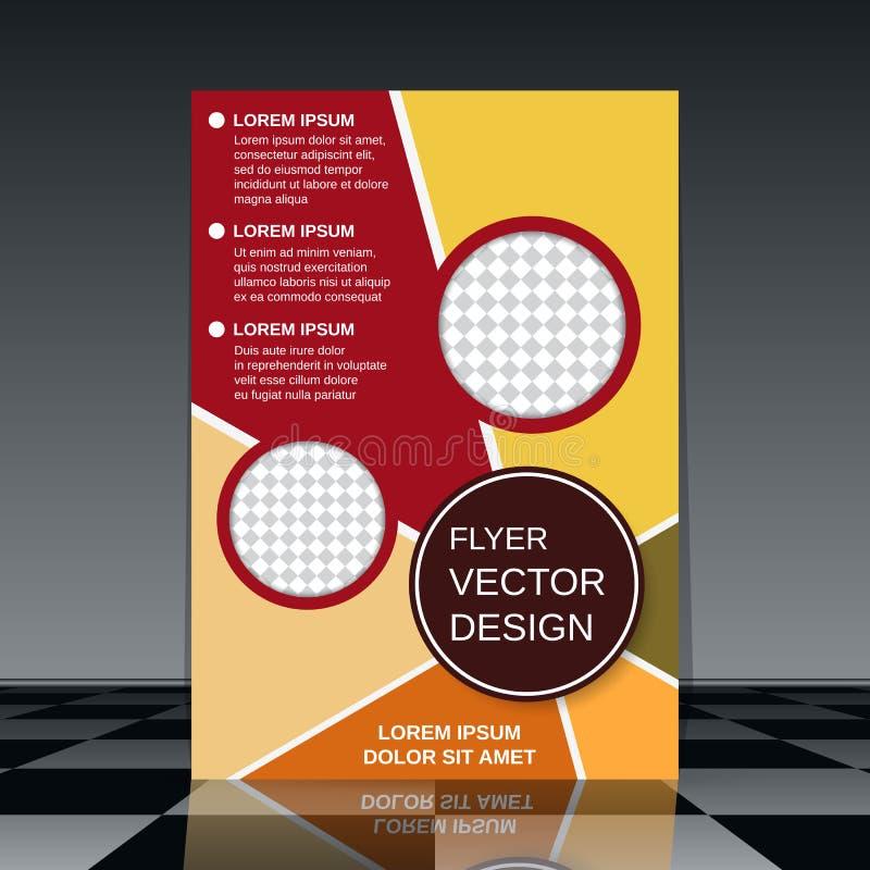 Het malplaatje van de brochuredekking vector illustratie