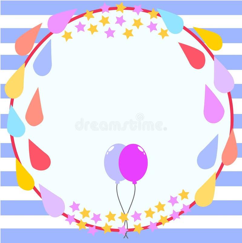 Het Malplaatje van de de Verjaardagskaart van het cirkelkader royalty-vrije stock fotografie
