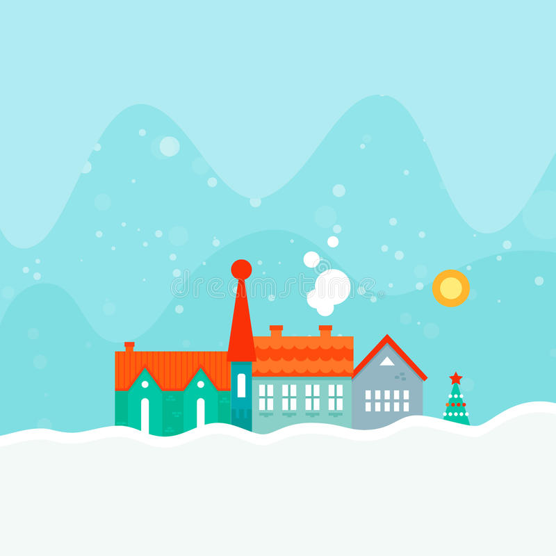 Het Malplaatje van de de winterkaart royalty-vrije illustratie