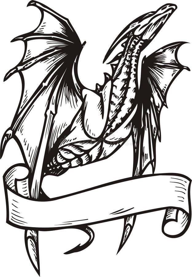 Het Malplaatje van de draak. stock illustratie