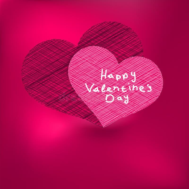 Het malplaatje van de Kaart van de Dag van de valentijnskaart. + EPS8 royalty-vrije illustratie