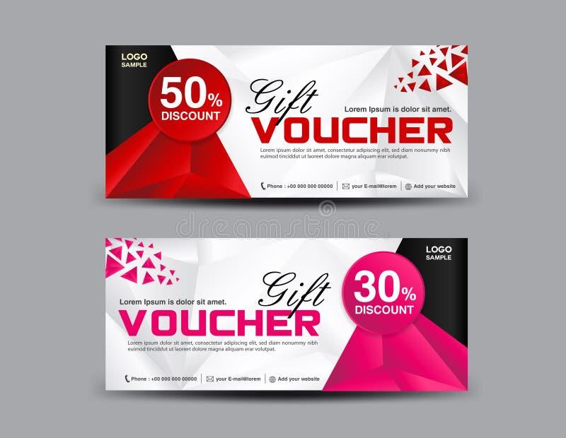 Het malplaatje van de kortingsbon, couponontwerp, kaartje, bannermalplaatje vector illustratie