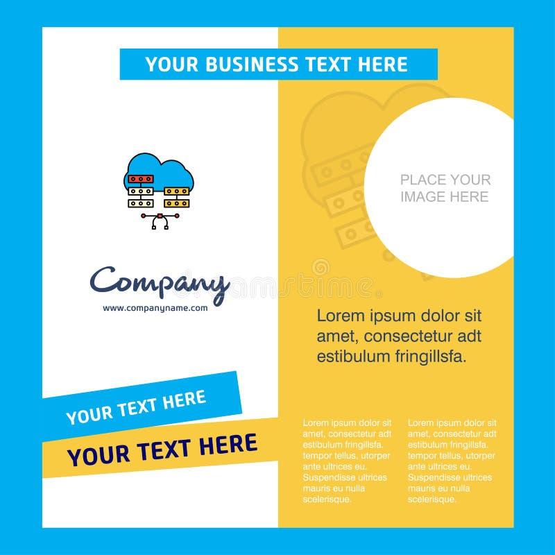Het Malplaatje van de netwerkcommunication Company Brochure Vectorbusienss-Malplaatje vector illustratie