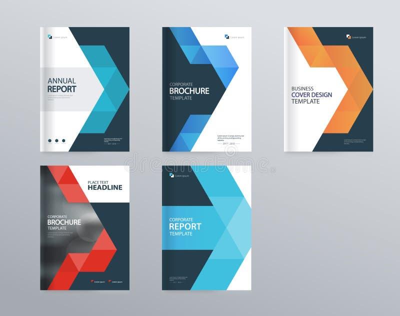 Het malplaatje van de ontwerplay-out voor bedrijfprofiel, jaarverslag, brochures, vliegers, abstract het ontwerpmalplaatje van de stock illustratie