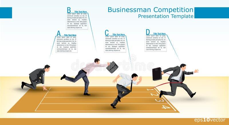 Het malplaatje van de presentatie van de bedrijfsconcurrentie royalty-vrije illustratie