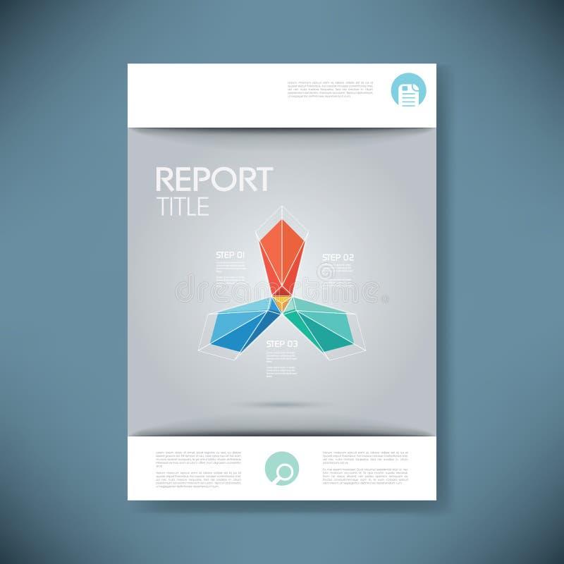 Het malplaatje van de rapportdekking voor bedrijfspresentatie of royalty-vrije illustratie