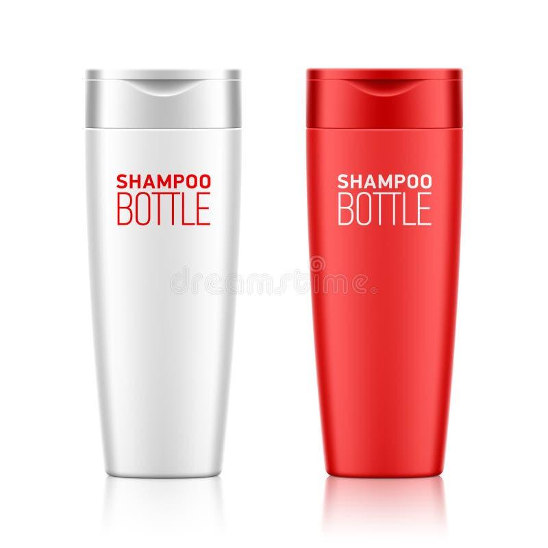 Het malplaatje van de shampoofles vector illustratie