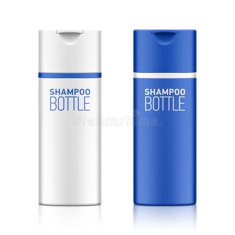 Het malplaatje van de shampoofles voor uw ontwerp royalty-vrije illustratie