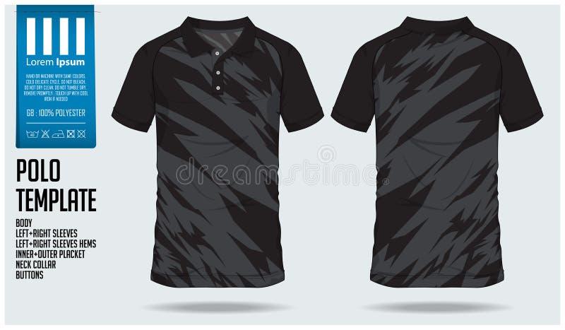 Het malplaatje van het de sportontwerp van de polot-shirt voor voetbal Jersey, voetbaluitrusting of sportclub Sport eenvormig in  vector illustratie