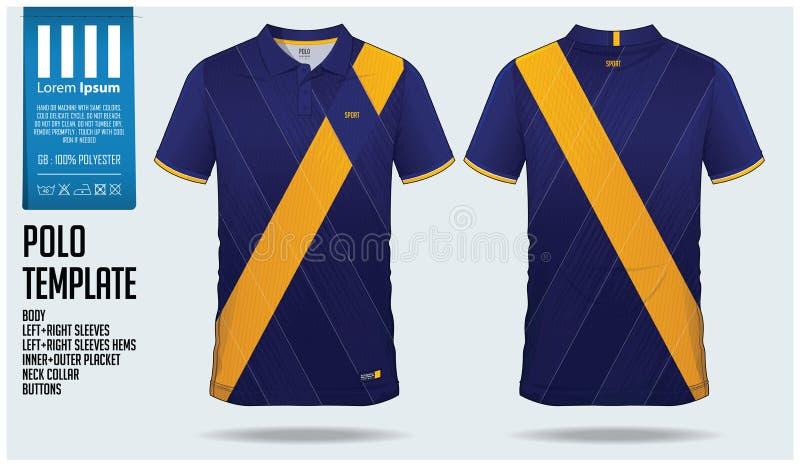 Het malplaatje van het de sportontwerp van de polot-shirt voor voetbal Jersey, voetbaluitrusting of sportclub Sport eenvormig in  royalty-vrije illustratie
