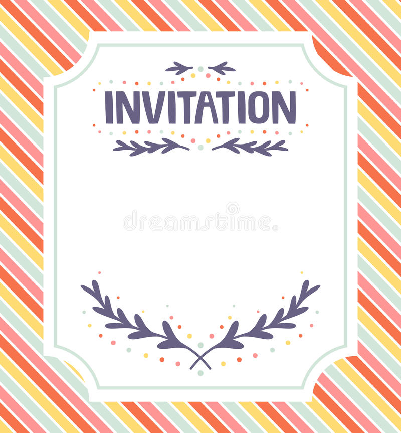 Het malplaatje van de uitnodiging vector illustratie