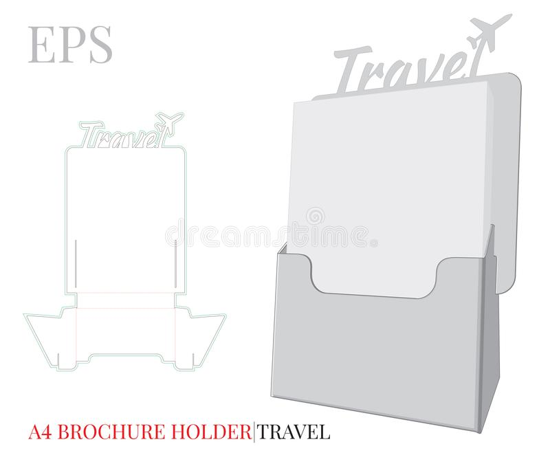 Het Malplaatje van de vliegerhouder Vector met matrijs gesneden/van de laserbesnoeiing lagen Witte, duidelijke, lege, ge?soleerde royalty-vrije illustratie