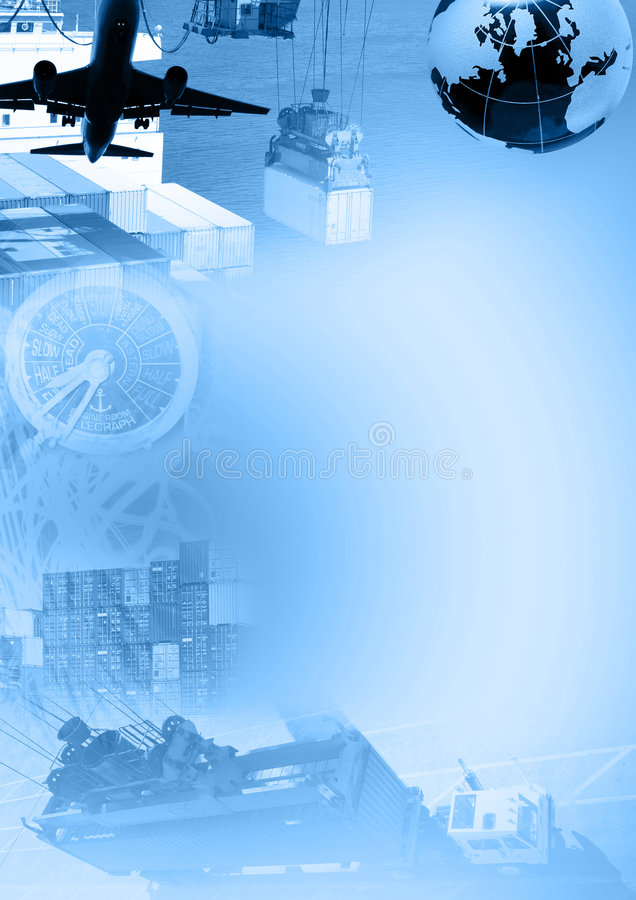 Het malplaatje van de vracht vector illustratie