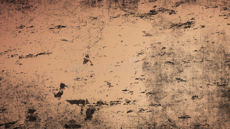 Het Malplaatje van de VUrbantextuur Bruine Slordige de Noodachtergrond van de Stofbekleding Gemakkelijk om Gestippelde Samenvatti stock afbeelding