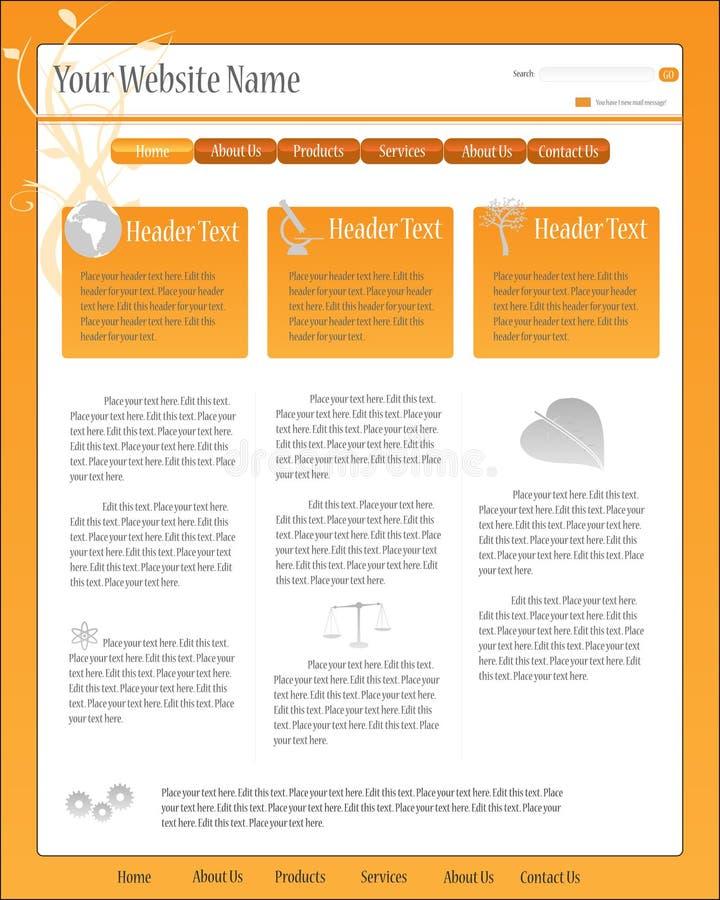 Het Malplaatje van de Web-pagina vector illustratie