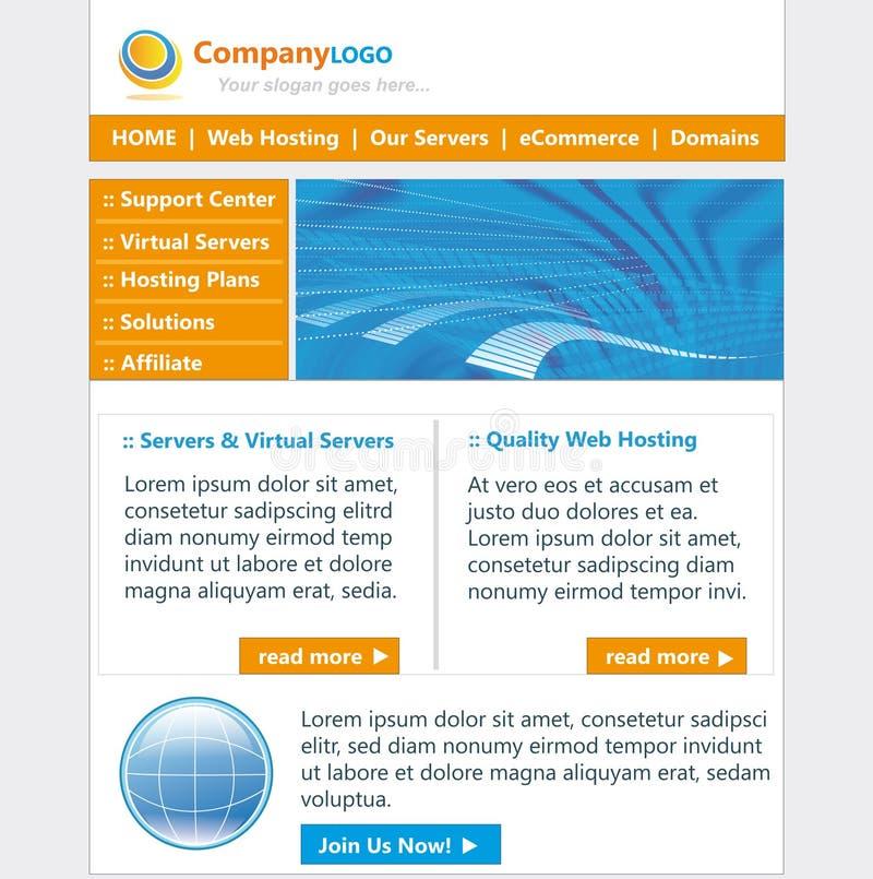 Het malplaatje van de website stock illustratie